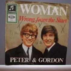 "PETER & GORDON - WOMAN/WRONG...(1973/EMI/RFG) - disc VINIL Single ""7/VG+"