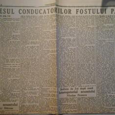 Ziarul Universul, preocesul conducatorilor fostului aPNT, 2 pagini