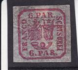 ROMANIA1864 LP 12  PRINCIPATELE  UNITE  EMISIUNEA II  6 PARALE POINCON L.PASCANU, Nestampilat