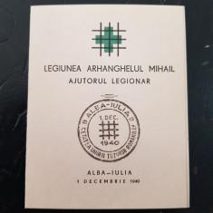 LEGIONARI-CARNET LEGIONAR-AJUTORUL LEGIONAR-ALBA IULIA-1 DECEMBRIE  1940