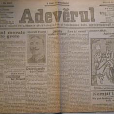 Ziarul Adevarul, samb. 20 febr. 1916, 4 pagini, stare foarte buna