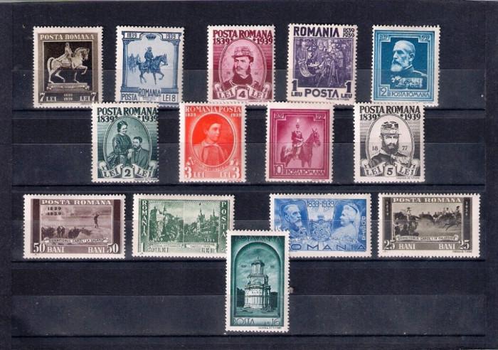 ROMANIA 1938 - CENTENARUL NASTERII REGELUI CAROL I  - MNH - LP 128