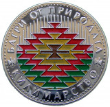 BULGARIA - 2007:  Moneda 5 leva AG PROOF, TESATORII de COVOARE, Europa, Argint