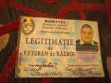 Legitimatie veteran participant grad copil de trupa in civilie colonel a8