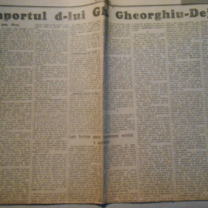Ziarul Universul, raportul ghe.ghe Dej