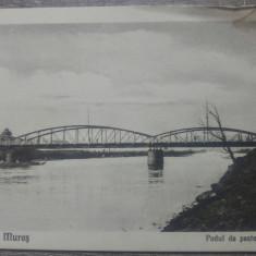 Targu Mures, podul de peste Mures// CP, Circulata, Fotografie