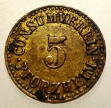 1.222 GERMANIA JETON CONSUMVEREIN PFORZHEIM 5 16mm