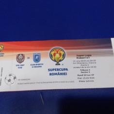 Bilet      Supercupa  Rom.   CFR  Cluj   -  CS  U  Craiova