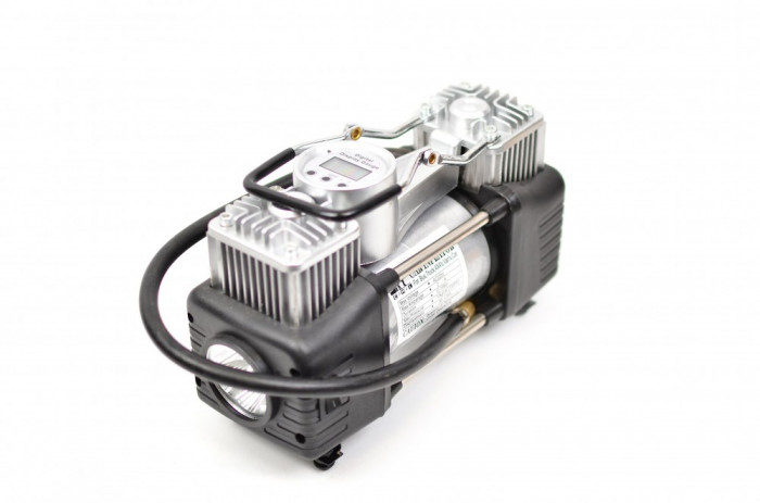 RESIGILAT - Set compresor auto cu doi cilindri, si Display, 12V (bricheta) - Camion, SUV 85/min - 6284X4