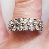 Antic inel din au de 14 kt c diamante de 1,80 ct,aniversary