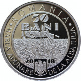 50 BANI 2018 & 2017 PROOF-BASARABIA-DOBROGEA-BUCOVINA-1 DECEMBRIE+U.E-ECATERINA