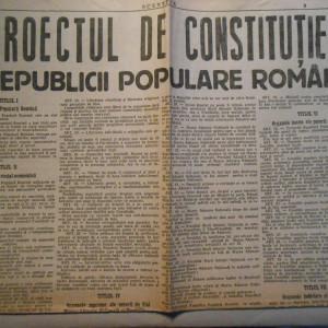 Scanteia , proiectul de constitutie, 2 pagini