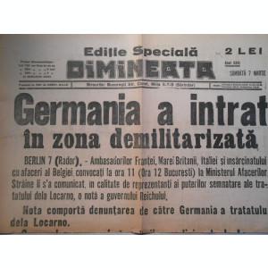 Ziarul Dimineata, editie speciala, samb. 7 mart. 1937, 2 pag.