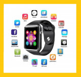 Ceas Smartwatch cu Telefon SIM, Camera 1,3 Mpx, Apelare BT, LCD, Aluminiu