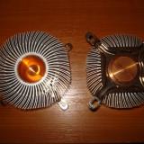 Cooler racitor aluminiu si miez de cupru , provin de la intel LGA 775