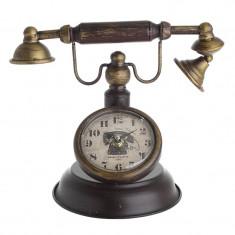 Ceas de birou Telefon Antic metalic Burgundy