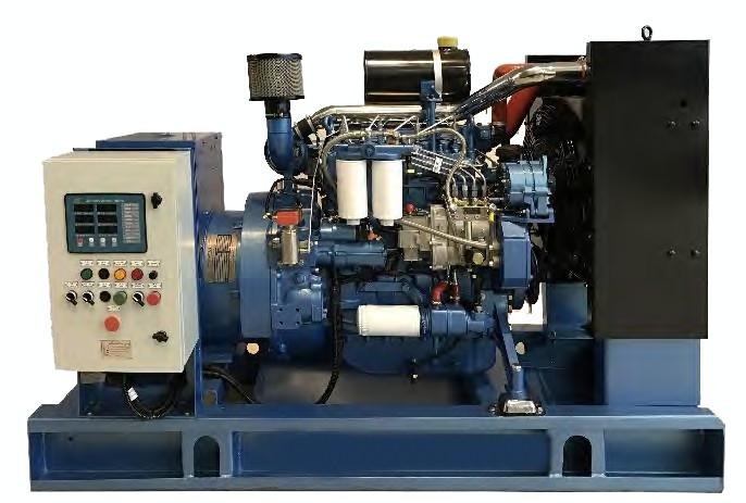 Generator curent electric (grup electrogen) ABAT 220 TBI, motorizare Baudouin, 220 kVA, diesel, trifazat, automatizare