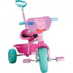 Tricicleta Peppa Pig, LMI, ideal pentru plimbari distractive in aer liber, 12-24 luni, Fata, Roz