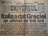 Ziarul Universul, editie speciala, 2 pag., luni 23 oct. 1940, stare buna