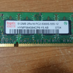 Ram Laptop hynix 512MB DDR2 PC2-5300S HYMP564S64CP6-Y5