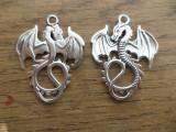 Pandantiv dragon 2 fete