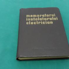 MEMORATORUL INSTALATORULUI ELECTRICIAN/ JESCH LAZLO, TARABA ISTVAN/1963