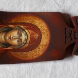 Icoana pictată pe lemn de tei sculptat- ISUS