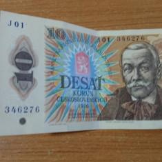 Banknote Desat Korun, 10 korun 1986 #56794