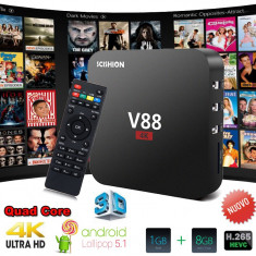 TV Box Mini PC Scishion V88 ,4k-3D ,1gb, 8gb,Android 7.1, Wi-Fi,livrare gratuita