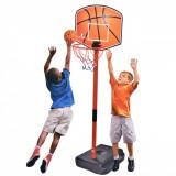 Cos baschet LMI junior din plastic, 1.06 m, include o pompa de mana si o minge
