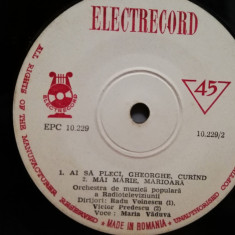 "MARIA VADUVA - AMINDOI CAND NE .. (EPC10229/ELECTRECORD) - disc VINIL Single ""7/"