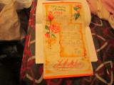 reclama an 1988 pentru floraria codlea cu calendar ca nou a9