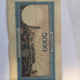 Bacnota, Romania,5 000 lei, 28 sept. 1943, necirculata,sau  foarte putin