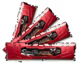 Memorie G.Skill Flare X (For AMD), DDR4, 4x16GB, 2400MHz (Rosu)