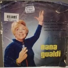 """NANA GUALDI (EDC927/ELECTRECORD) - disc VINIL Single """"7/RAR"""
