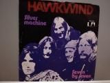 "HAWKWIND - SILVER MACHINE/SEVEN BY...(1972/UA/RFG)- disc VINIL Single ""7/NM/RAR, United Artists rec"
