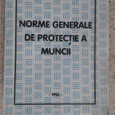 NORME GENERALE DE PROTECTIA MUNCII