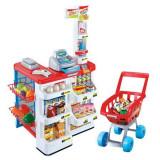 Magazin supermarket cu casa de marcat si carucior, 82 cm, +3 ani, 4-6 ani, Unisex