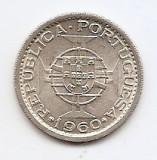 Mozambic 5 Escudos 1960 - Argint 4 g/650,  21.9 mm KM-84, Africa