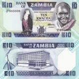 ZAMBIA 10 kwacha 1980-88 NECIRCULATA UNC