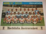 Poster-echipa de fotbal - ASCOLI (Italia) sezonul 1985/1986