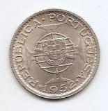 Mozambic 10 Escudos 1952 - Argint 5 g/720,  24 mm KM-79, Africa