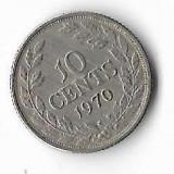 Moneda 10 cents 1970 - Liberia, Africa