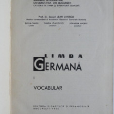 Limba germana. Vocabular - Jean Livescu vol.1