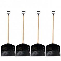 4 x Lopata din plastic cu coada si maner.