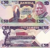 ZAMBIA 50 kwacha 1986-1988 NECIRCULATA UNC!