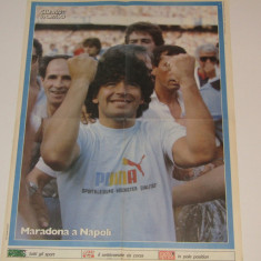 Poster fotbal de colectie - MARADONA la NAPOLI