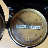Busola originala BEZARD, husa de piele, monograma de producator - cadran 55 mm