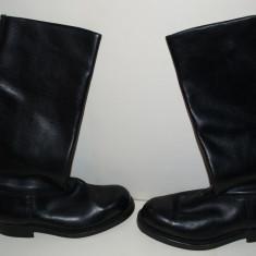 Cizme militare inalte din piele, 41-42, Negru