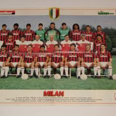 Poster-echipa de fotbal - AC MILAN (Italia) sezonul 1988/1989
